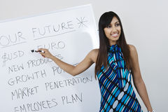 Businesswoman Presenting Company Goals Stock Photography