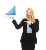 Businesswoman presenting graph Royalty Free Stock Images