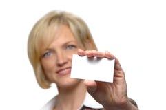 Businesswoman Presenting Her C Stock Photos