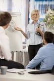 Businesswoman presenting idea in office Stock Photos