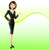 Businesswoman (presenting) Stock Photo