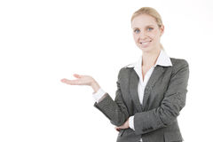 Businesswoman Presenting a Product Royalty Free Stock Photography
