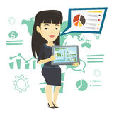 Businesswoman presenting report on tablet computer Royalty Free Stock Photo