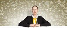 Businesswoman presenting something Royalty Free Stock Photos