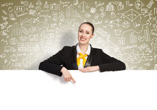 Businesswoman presenting something Stock Photo