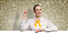 Businesswoman presenting something Stock Photography