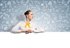 Businesswoman presenting something Royalty Free Stock Images