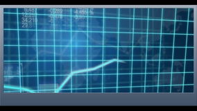 Businesswoman presenting world business coding and graph clips stock video