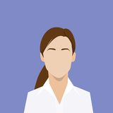 Businesswoman profile icon female portrait flat Royalty Free Stock Photos