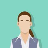 Businesswoman profile icon female portrait flat Stock Image
