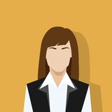 Businesswoman profile icon female portrait flat Stock Photo