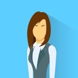 Businesswoman Profile Icon Female Portrait Flat Stock Photo