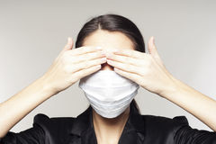 Businesswoman with protect mask on her face Royalty Free Stock Photography