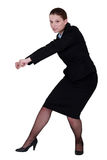 Businesswoman pull action Stock Photo