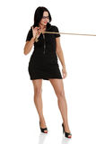 Businesswoman pulling on a rope Royalty Free Stock Image