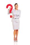 Businesswoman question mark Stock Photo