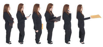 Businesswoman - queue of one Stock Images