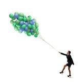 businesswoman radosny Zdjęcia Royalty Free