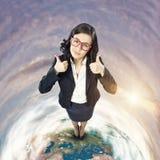 businesswoman radosny Zdjęcie Stock