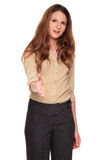Businesswoman - reaching handshake Stock Images