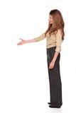 Businesswoman - reaching handshake Royalty Free Stock Images