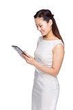 Businesswoman read on digital tablet Stock Photo