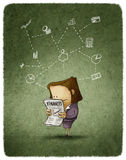 Businesswoman read Royalty Free Stock Images