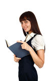 Businesswoman reading Royalty Free Stock Images