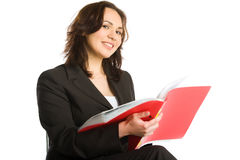 Businesswoman reading Royalty Free Stock Image