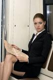 Businesswoman reading Royalty Free Stock Photos