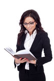 Businesswoman reading a book, Royalty Free Stock Photography
