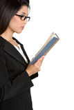 Businesswoman Reading Book Royalty Free Stock Image