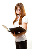Businesswoman reading documents Royalty Free Stock Image
