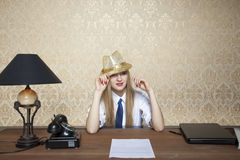 Businesswoman ready for the evening party Royalty Free Stock Images
