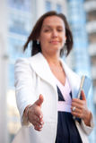 Businesswoman ready for handshake Royalty Free Stock Photography