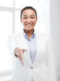 Businesswoman ready for handshake Stock Image