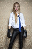 Businesswoman ready to fight Stock Images