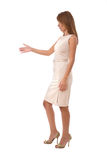 Businesswoman ready to handshake Stock Image