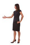 Businesswoman ready to handshake Royalty Free Stock Image