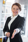 Businesswoman ready to shake hand Royalty Free Stock Images