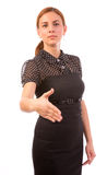 Businesswoman ready to shake hands Royalty Free Stock Photo