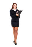 Businesswoman ready for write Royalty Free Stock Image