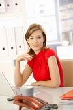 Businesswoman in red Royalty Free Stock Image