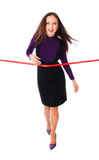 Businesswoman with the red line Stock Image