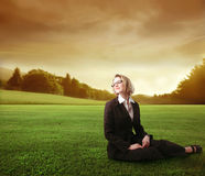 Businesswoman relaxing Royalty Free Stock Photography