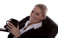 Businesswoman relaxing. Stock Photo