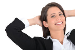 Businesswoman relaxing Royalty Free Stock Photo