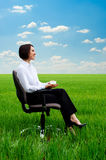 Businesswoman relaxing Stock Photos