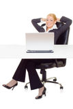 Businesswoman relaxing Royalty Free Stock Photos
