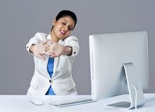 Businesswoman relaxing Stock Image
